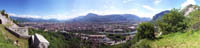 View on valley of Grenoble from Bastille