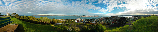 View from Mount Victoria at Auckland