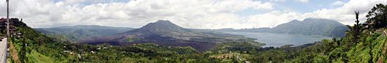 Vue sur le Mont Batur