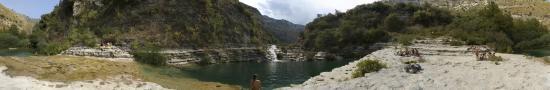 The natural pool of Cava Grande
