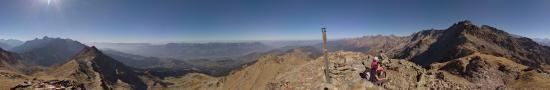At the summit of Cime de la Jasse at 2478 m
