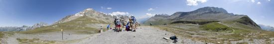 At the Seigne pass in italy-france border