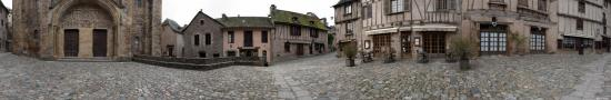 On the plaza of Conques Cathedral