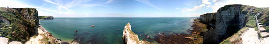 At he top of cliffs of Etretat