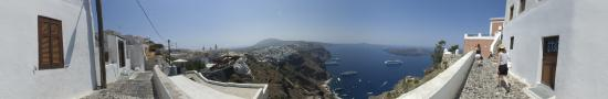 Above Fira at the morning