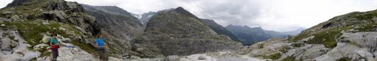 Au dessus du glacier de Tre la Tete
