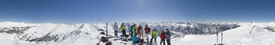 Ski touring group in Gradiole summit