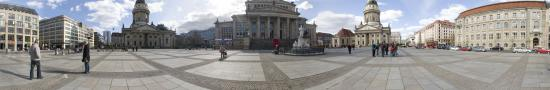 The Gendarmenmarkt in the center of Berlin