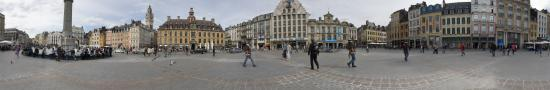 The Great plaza of Lille with the Vielle Bourse building