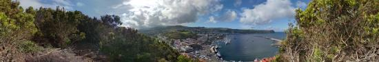 Point of view on Horta in Faial Island