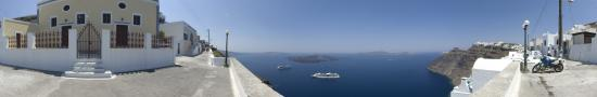 Point of view on Santorini caldera