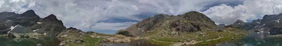 At the lake of Little Dom�non at 2363 m