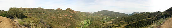Collines de Malibu sur Malibu Canyon Road