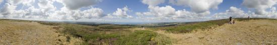 Menez Hom, the top of Brittany with view about Atlantic