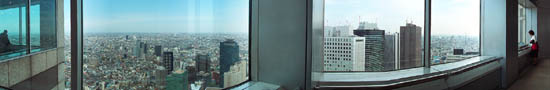 En haut du building de la Mairie de Tokyo