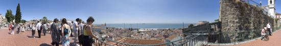 viewpoint of Santa Luzia on Lisbon