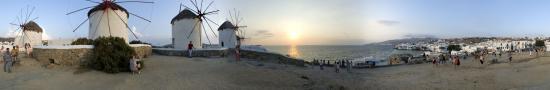 Coucher de soleil � Mykonos