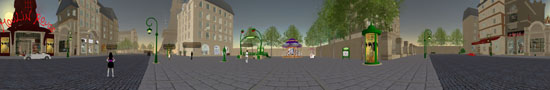 A simulation of Paris in Second Life