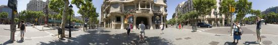 The Casa Mil� House of Gaudi, nicknamed The Pedrera