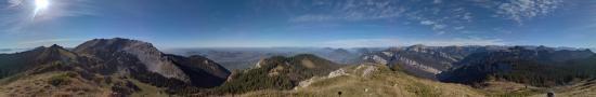 Au sommet de la petite Vache � 1735 m