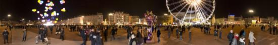 Festival of Lights in Bellecour Plaza
