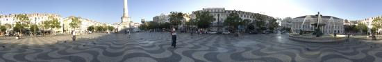 The central plaza Don Pedro IV in Lisbon