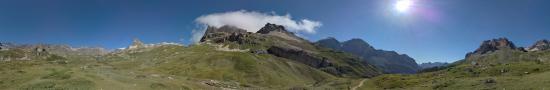 Le Prat du plan en montant au col des Muandes depuis la Vall�e Etroite