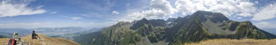 A the top of Sistre peak