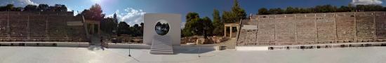 Modern art in the antic Theater of Epidaurus