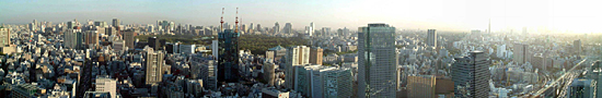 Tokyo view from Dome Hotel