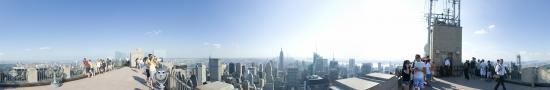 At the top of Rockefeller building