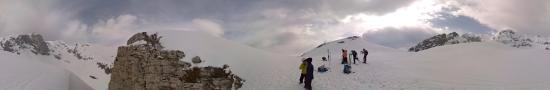 At the exit of the Travers�e H�ro�que at 2070 m