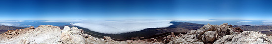 On the top of the volcano of Teide
