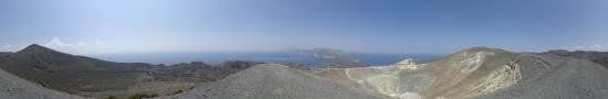 At the summit of Vulcano