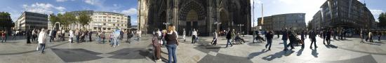 On the parvis of Cologne Cathedral